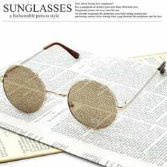 新品 ラウンドサングラス メンズ レディース 丸眼鏡 UVカット メガネ