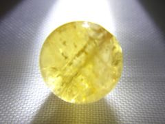 天然石 イエロートルマリン 約8.2�o玉 P101
