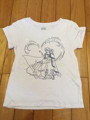 ユニクロ UT アナ雪 ラベンダー 110 Tシャツ キラキラ