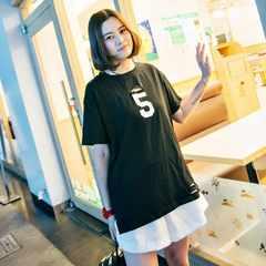 0914-606029大きいサイズ☆NO.5ダメージTシャツ☆ブラック