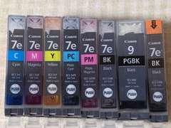 中古〇Canon(キャノン)純正品インクカートリッジ★BCI-7e&9(7色セット)+新品7eBK