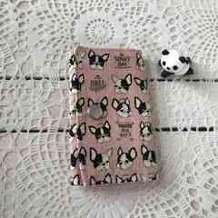 フレンチブル キーケース ハンドメイド pink