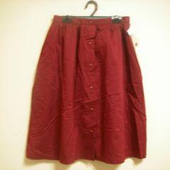 ひざ下くらい シンプル ボタンデザイン スカート Mくらい