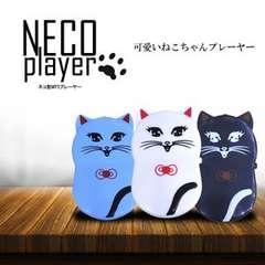 ★ネコ型MP3プレーヤー MP3音楽プレイヤー ブラック