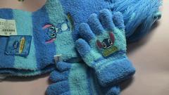 値下げしました〓☆新品〓ステッチ 子供用〓マフラー& 手袋セット