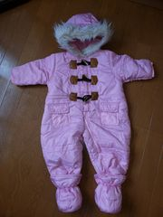 ☆美品☆女の子ピンクのジャンプスーツ☆70