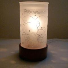 【リラックマ】可愛い癒し♪ガラスアロマライト/インテリアランプハート