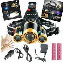 超強力LED ヘッドライト 5000ルーメン 夜釣り 海釣り わかさぎ釣り