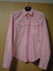 ラルフローレン●RALPH LAUREN●ウエスタンシャツ●可愛いピンク色7号