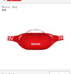 supreme 18ss waist bag ウエストバッグ 赤 新品 新作