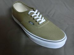 USA購入 シンプルな単色キャンバス地 VANS【Authentic】26.5�a