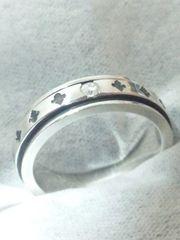 パトリックコックス【PATRICK COX】シルバー<ダイヤモンド/ユリの紋章>リング7号