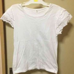 袖レースTシャツ*