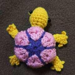 手編みのあみぐるみ、カメ