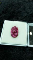 天然ルビー『ガネーシャ』彫刻 裸石
