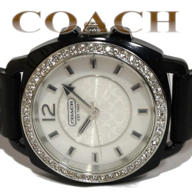 良品 1スタ★COACH コーチ【SIGNATURE】ジルコニア 腕時計