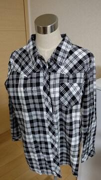 新品 チェックシャツ 大きいサイズ3L