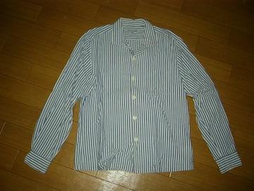 コムデギャルソンHOMMEストライプシャツSマリン囚人