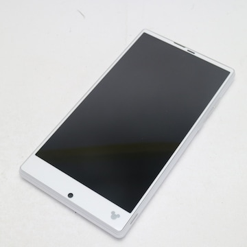 ●新品同様●SH-02G Disney Mobile スパークリングホワイト●
