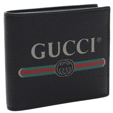 GUCCI 2つ折り財布 496316 0GCAT 8163 ブラック