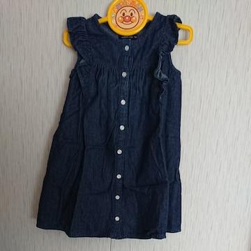 ムージョン購入☆ANIMAL KID☆春物デニムワンピース☆size110