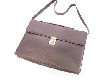 ロエベ グレインレザー製ビジネスバッグ ショルダー付き