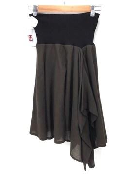 Ys(ワイズ)アシンメトリー ウールスカートスカート