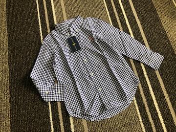 新品☆RALPH LAUREN(ラルフローレン)刺繍入りチェック長袖シャツ120☆