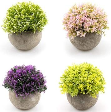 フェイクグリーン 光触媒 観葉植物 トピアリー ボール 4個セット