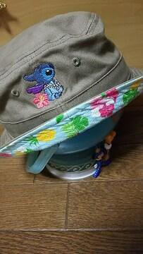 新品  ディズニーストア  スティッチ ハワイアン 花柄 帽子 パイナップル 可愛い