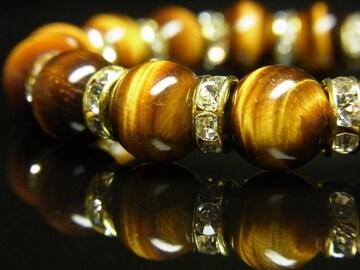 クリスマスギフトにおすすめ 虎目石タイガーアイブレスレット 10ミリ数珠