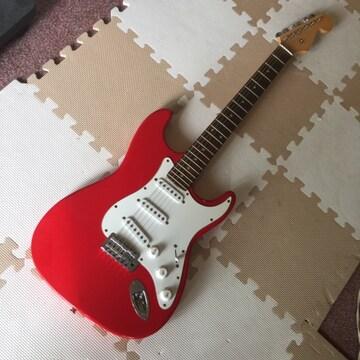 【美品】真っ赤なエレキ・ギター(Epiphoneバッグ付)