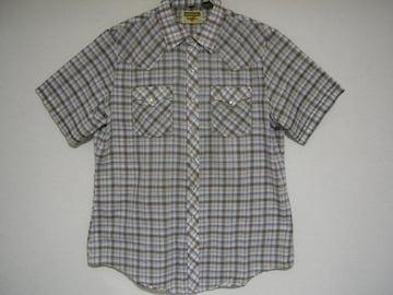 即決USA古着鮮やかチェック半袖シャツ!ビンテージレア