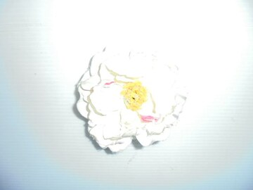 ヘアアクセサリー ヘアゴム 花 牡丹 中古品