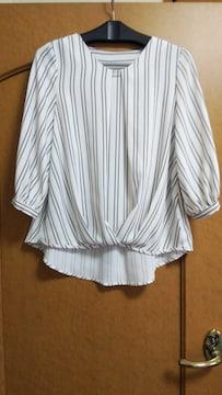 ★INGNIストライプ・ブラウス7部袖★
