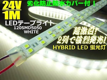 24Vカバー付LEDテープライト1M/蛍光灯/航海灯/船舶LEDライト
