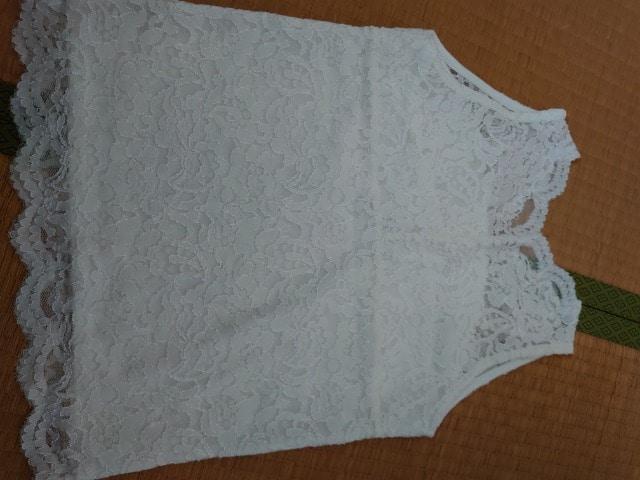 美品★白レースキャミソール。 < 女性ファッションの