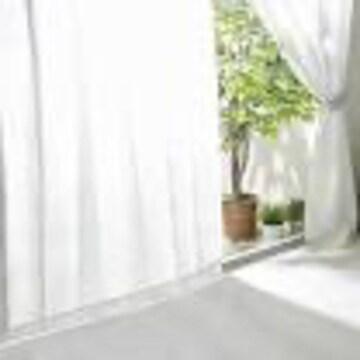 色ホワイト サイズ150cm×208cm 【全30種】レースカーテン UVカ