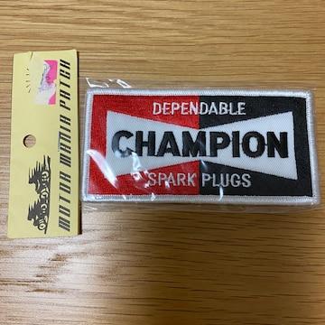 新品 未使用 未開封 CHAMPION ワッペン チャンピオン 刺繍