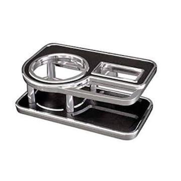 カーメイト 車用 ドリンクホルダー テーブルタイプ レザー調
