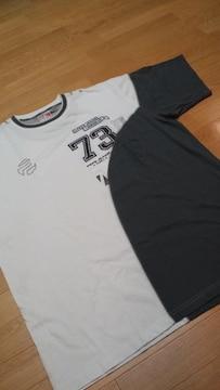 PEPE〓JEANS プリント刺繍 白チャコールグレーサイズ2XL