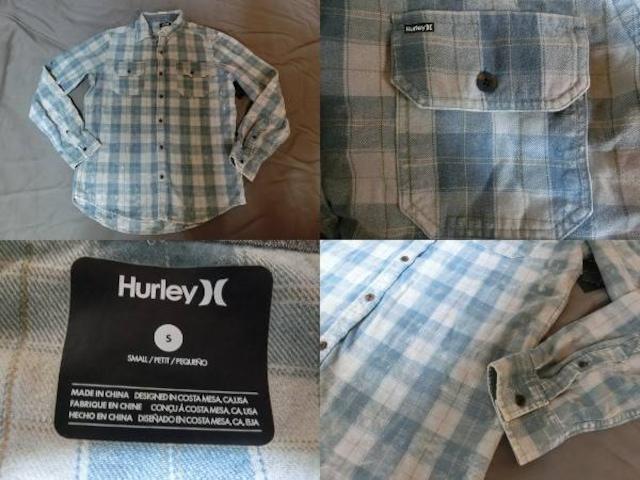 ハーレー【Hurley】 チェック柄 ロングスリーブシャツUS S < ブランドの