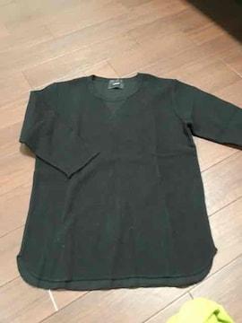 ナノユニバース 7分シャツ ブラック 新品未使用