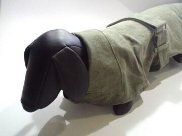 送円20kg犬服キャンバスコートグリーンL綿柴犬ビーグル軍色コスプレDogwear