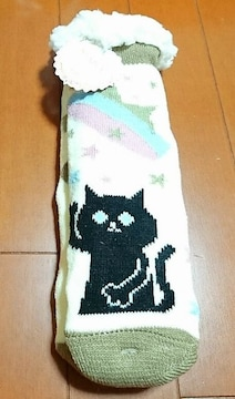 ♪新品♪モコモコルームソックス♪暖かい靴下♪ネコ柄�A猫
