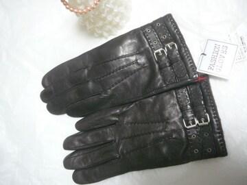 イタリア製ポルトラーノ社羊皮革仕様手袋裏ニット20