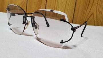 正規 ランセルLANCEL クラシック エンブレムロゴ 眼鏡 黒メタリックツーポイント サングラス〇