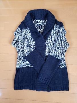 GAP ギャップ ニットジャケット セーター ネイビー 柄物  M