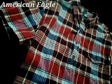 【アメリカンイーグル】Vintage Classic Fit プルオーバーシャツ L/チェック柄