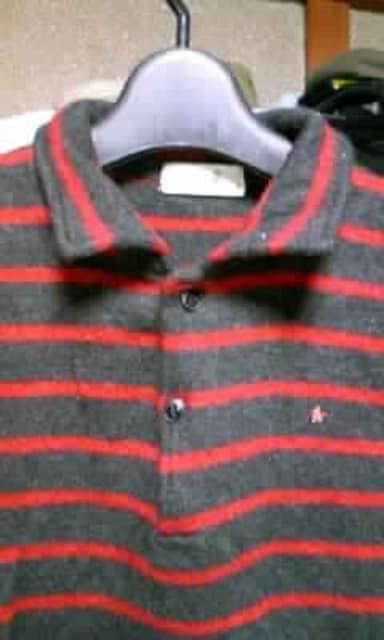 45rpm ウール 長袖ニット カットソー Sサイズ1 ボーダー 黒+赤 日本製 セーター 古着 < ブランドの